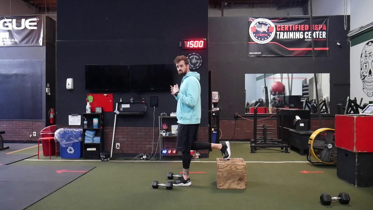 How to perform: Bulgarian split squat