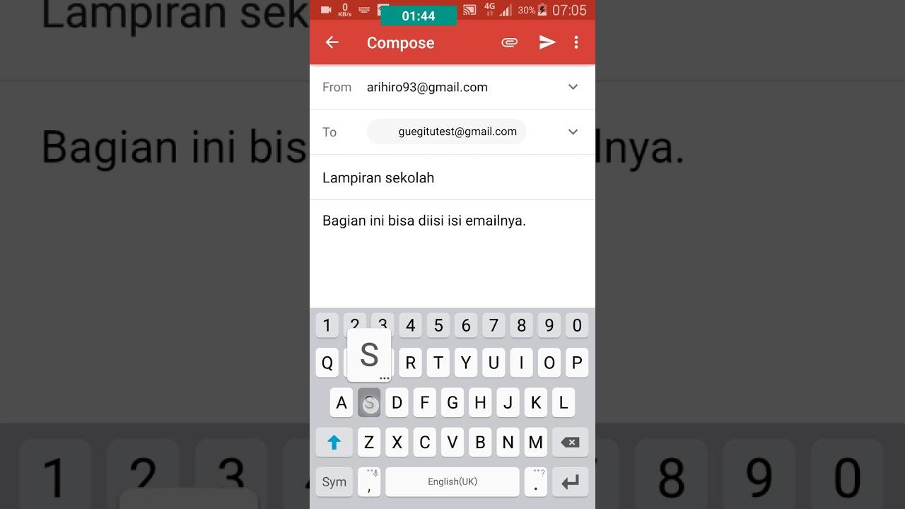 cara kirim email lewat hp android youtube