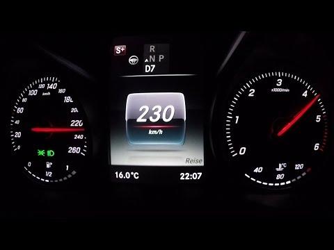 2017 Mercedes-Benz C 220 d T (S205) 0-100 kmh kph 0-60 mph Tachovideo Beschleunigung Acceleration