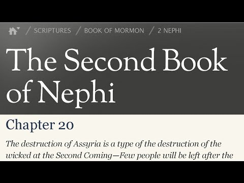 Read the Book of Mormon 2 Nephi 20 - The destruction of Assyria is a type.
