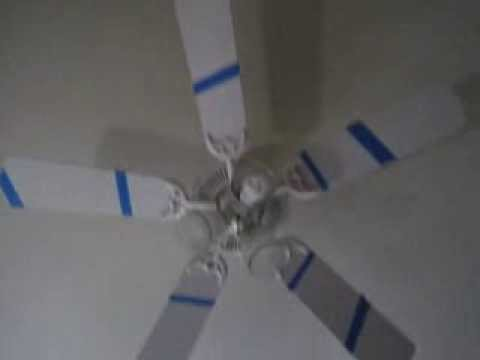Ceiling fan spiral animation