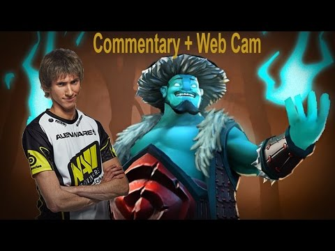 Dendi plays for Storm Spirit -  Commentary + Web Cam - public (22.08.2014)