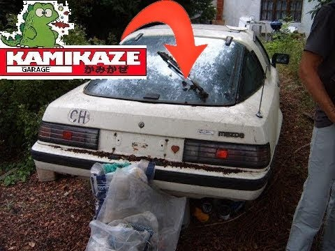 ABANDONED MAZDA RX7 ROTARY ENGINE FIRST START  AFTER 16 YEARS!!!!