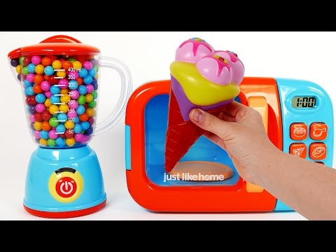 Thumbnail: Ice Cream Squishy Toys for Children Play Doh Learn Colors Microwave