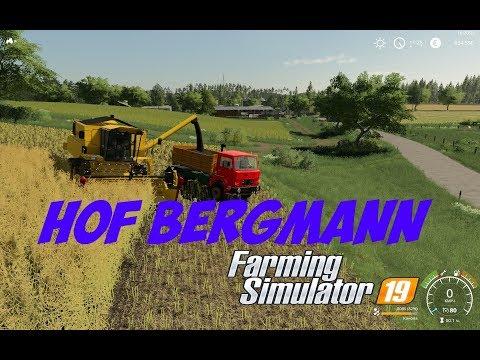 Farming Simulator 19 карта HOF BERGMANN развитие карьеры серия №1