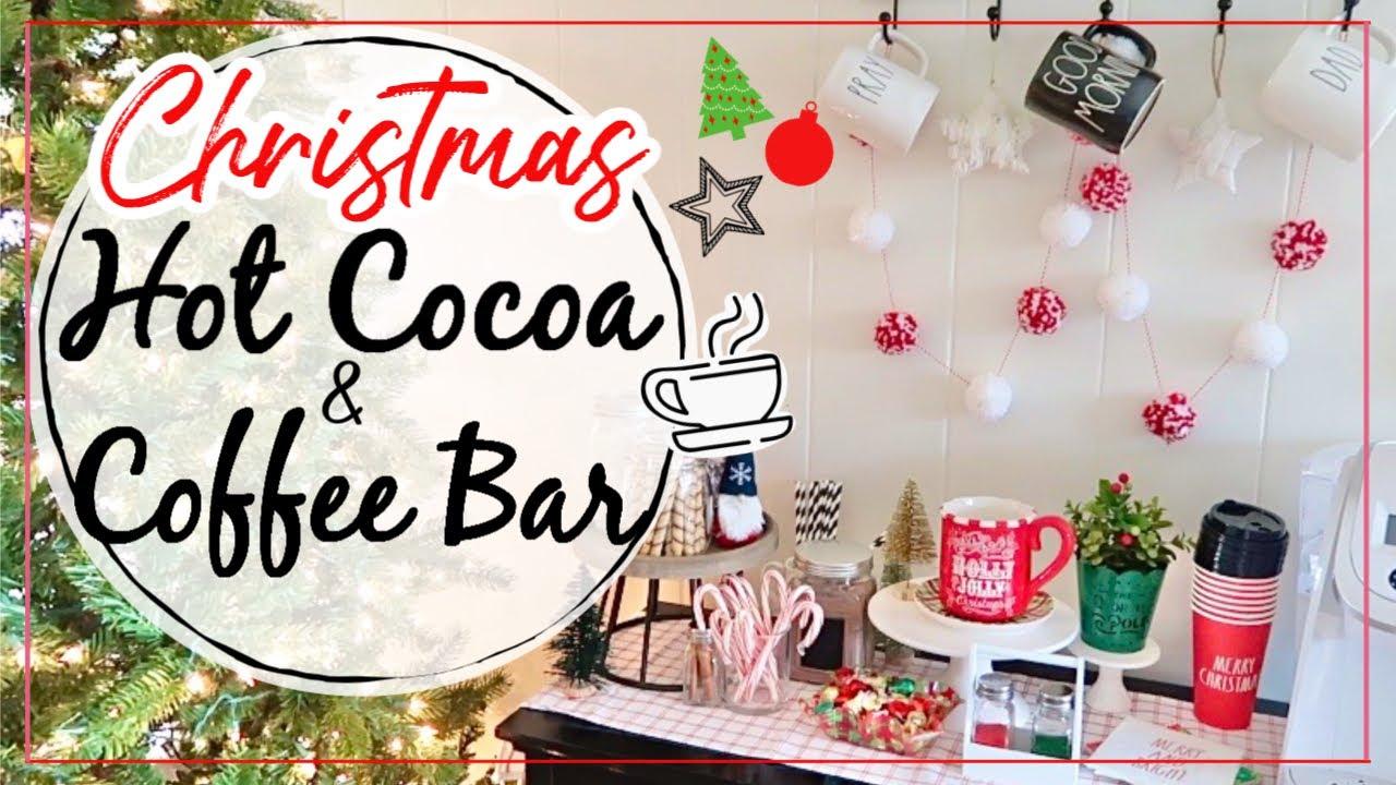 Utube 2021 Christmas Coffee Cicoa Bar Christmas Hot Cocoa And Coffee Bar 2019 Hot Chocolate Bar Christmas Coffee Bar Youtube