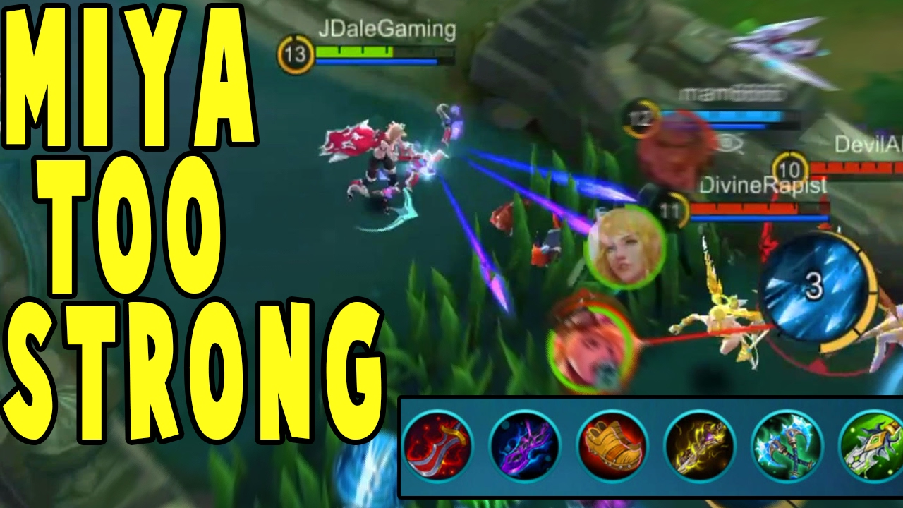 The Strongest Carry In Mobile Legends Miya Rank Gameplay