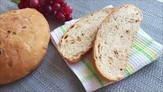 Домашний хлеб. Рецепт с жаренным луком.