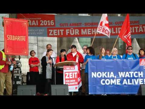 May Day Speech ITUC General Secretary Sharan Burrow Berlin Germany