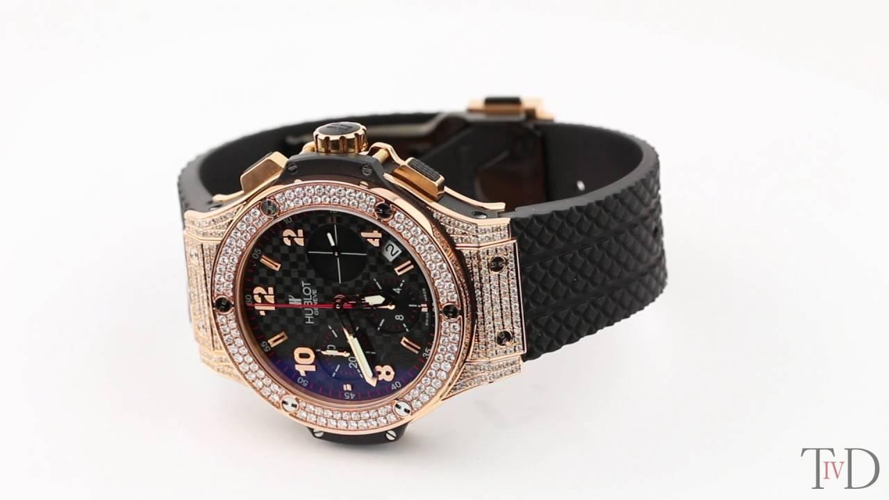 Hublot Big Bang 41mm Chronograph Rose Gold Diamond Set 341.PB.131.RX (T4D)  watch review 31e92d3eddaf