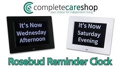 Ideal for Dementia and Alzheimer's Sufferers - Rosebud Reminder Clock - Dementia Clock