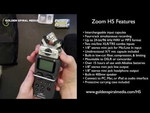 Zoom H5 Audio Recorder Demo and Review