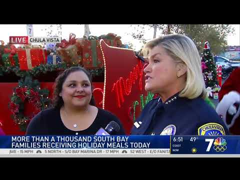 CVPD Gives Holiday Meals to Families in Need   NBC 7 San Die