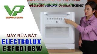 Giới thiệu máy rửa bát Electrolux ESF6010BW công suất 08 Bộ