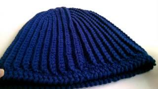 шапка бини крючком