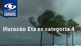 Huracán Eta es categoría 4: alerta en San Andrés por olas que superan los tres metros