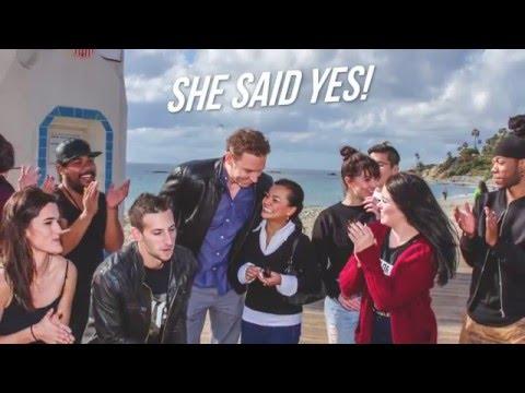 Dave and Linda's Flash Mob Proposal in Laguna Beach