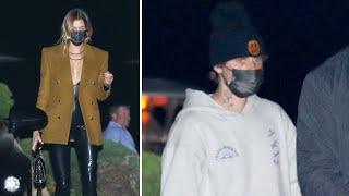 Hailey Baldwin Turns Heads In Latex As Justin Bieber Dresses Down In Sweats