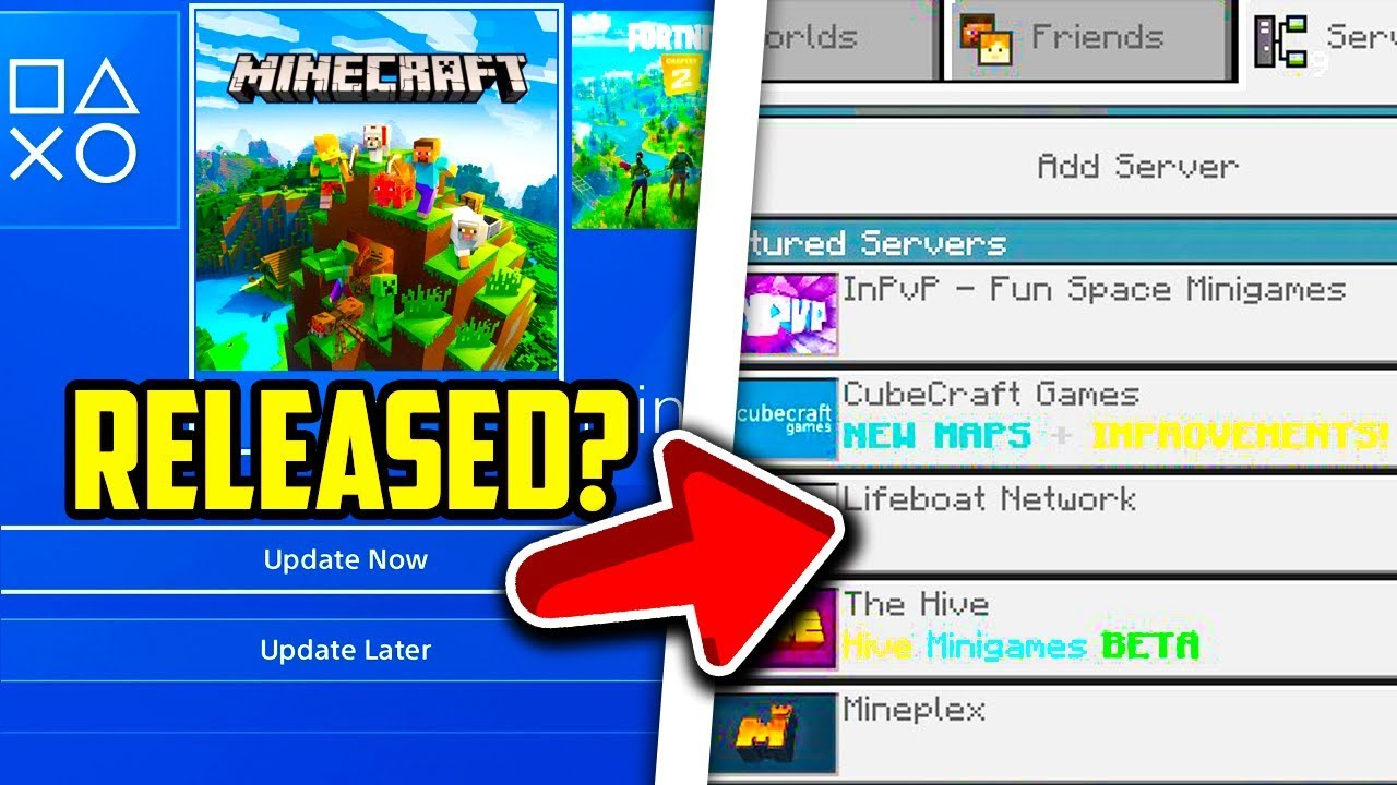 Minecraft PS4 Bedrock Edition Why PS4 Doesn t Have Servers