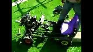 Présentation go-kart avec moteur de tondeuse