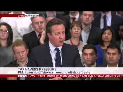 David Cameron talking about his two financial responsibilities