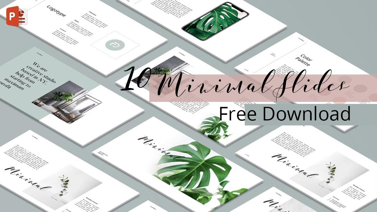 Minimal Powerpoint Template Tutorial Design Free Download Youtube