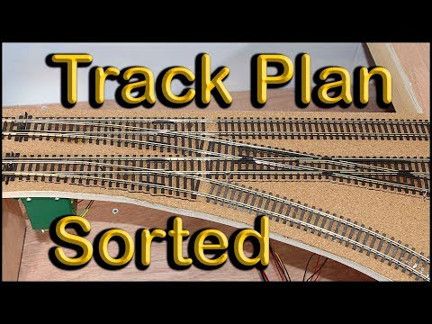 Track Plan Sorted.  Building a Model Railway .