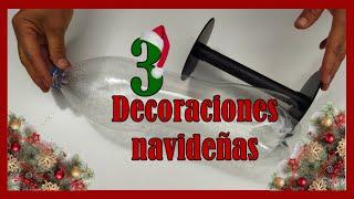3 DECORACIONES NAVIDEÑAS 2021 // Manualidades navideñas con reciclaje // 3 Christmas crafts