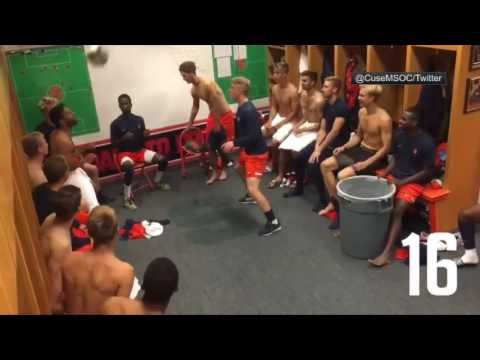 Syracuse soccer team puts on other-worldly locker room show