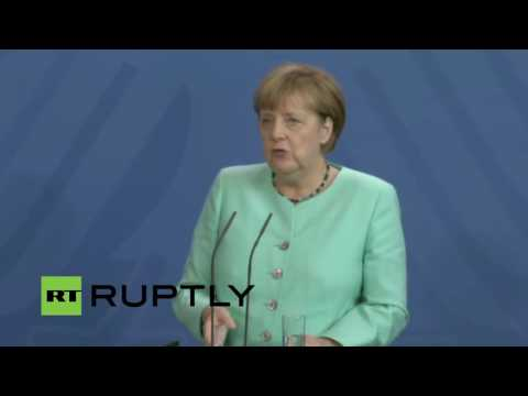 LIVE: UK's PM May and German Chancellor Merkel talk to the press in Berlin