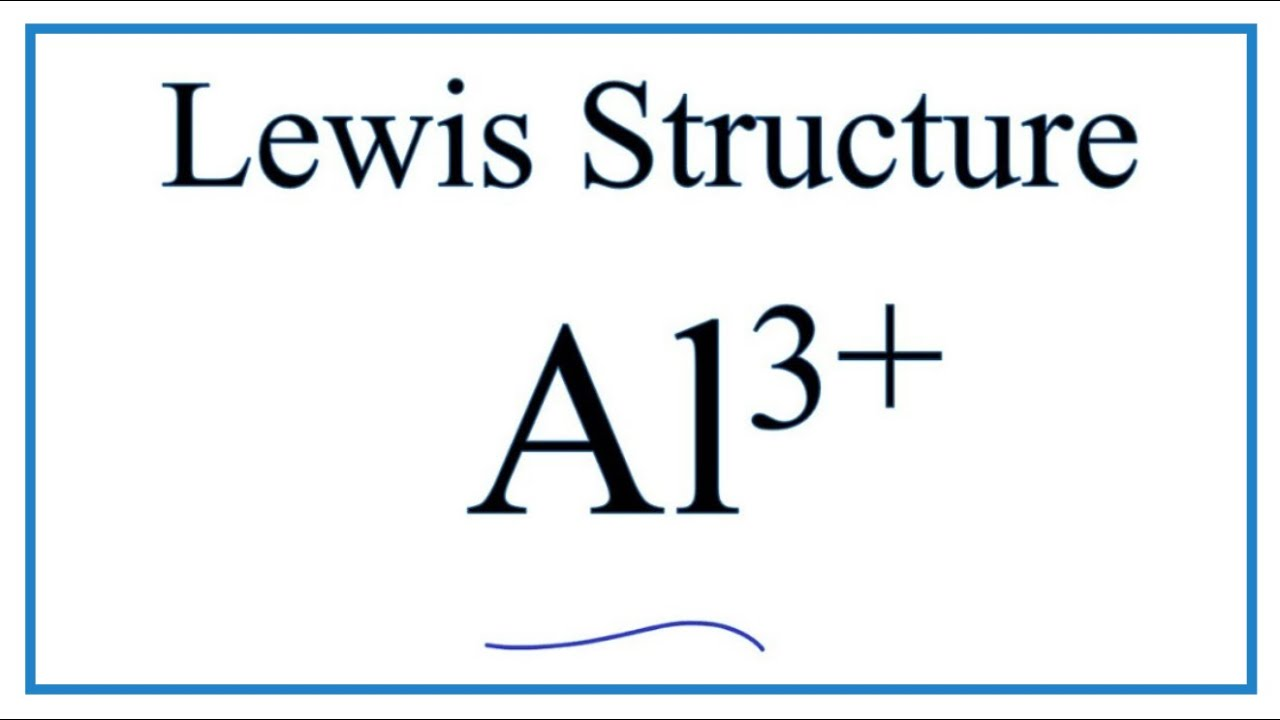 How to draw the Al3 Lewis Dot Structure  YouTube
