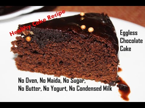 Eggless Chocolate Cake Without Oven/Healthy Jaggery Cake/No Maida,Sugar,Yogurt,Condensed Milk