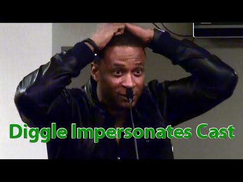 Arrow Diggle David Ramsey Impersonates Amell, Haynes, Rickards, Cassidy, Blackthorn