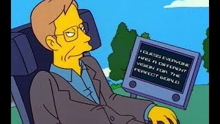 Rest In Peace Stephen Hawking - Simpsons Clips (S10E22)