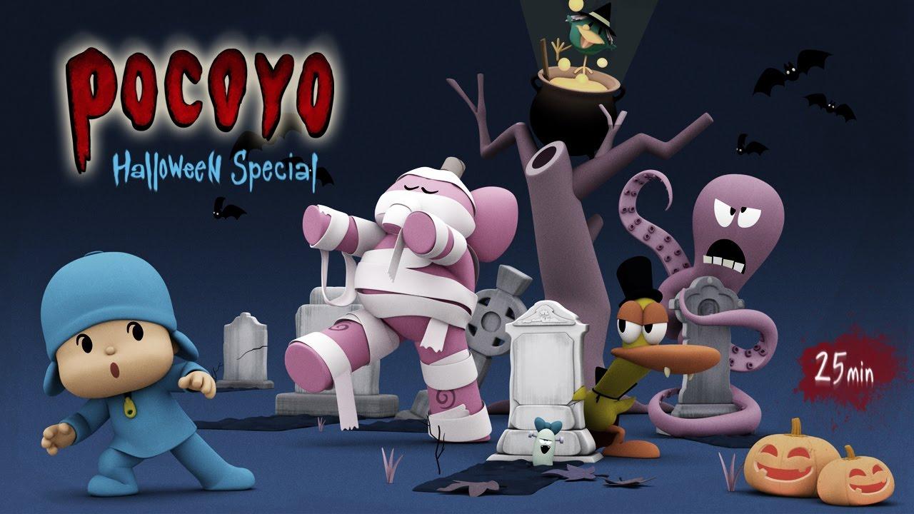 Pocoyo halloween 🎃 minuti per bambini cartoni animati
