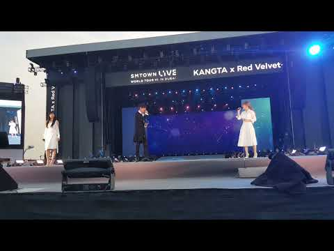 060418 SMTOWN LIVE WORLD TOUR in Dubai Kangta ft Seulgi and Wendy - Doll