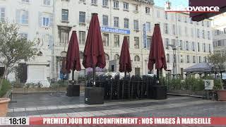 Premier jour du reconfinement : nos images du centre-ville de Marseille presque désert ce matin