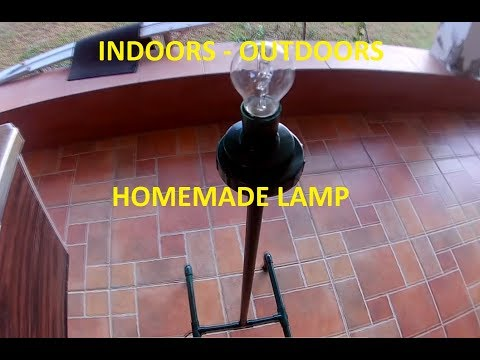 How to make a DIY indoor/outdoor lamp stand