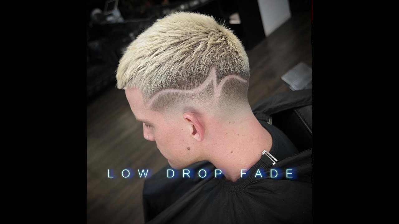 How To Do A Drop Fade With Concept Part Design Messy Style Barber