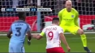 Falcao Garcia - Doblete En Champions League - Monaco vs Manchester City - Falcao is back
