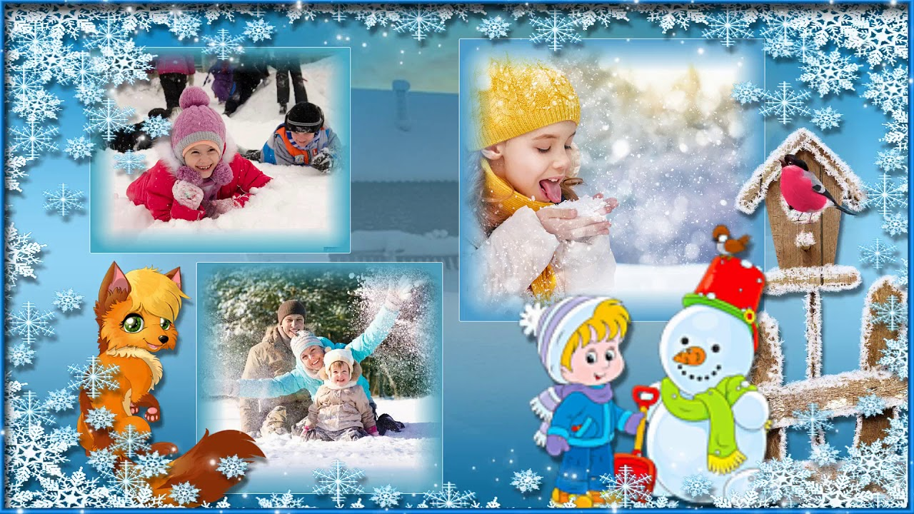 картинка зима детская