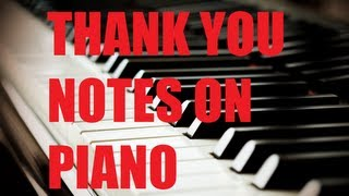 Jimmy Fallon Thank You Note Music Piano