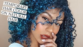 Trying Temporary Hair Colors on Curly Hair!