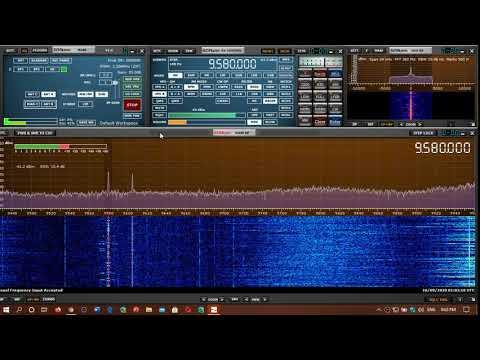 China Radio International via Cuba English 9580 kHz Shortwave SDRplay RSPdx MLA 30 loop antenna