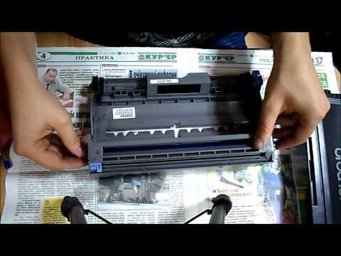 Заправка  и чистка картриджа TN 2075 (Brother HL-2040)