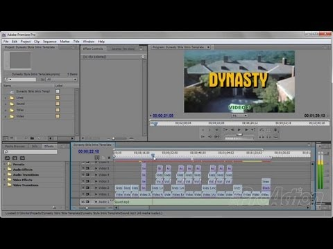 How to use the Dynasty Style Intro Template in Adobe Premiere Pro.
