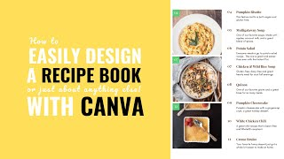 How to easily design a Recipe Book PDF (or pretty much anything else) with Canva