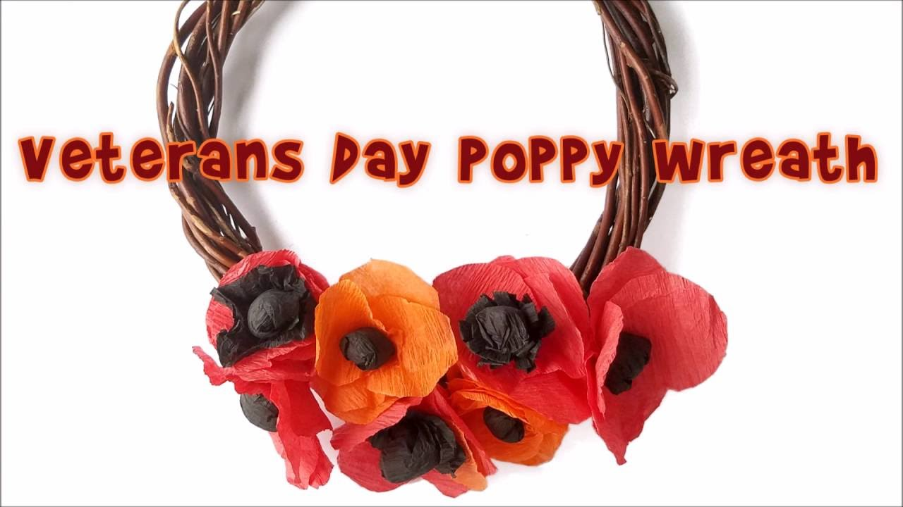 Veterans day poppy wreath kids craft activity youtube veterans day poppy wreath kids craft activity mightylinksfo