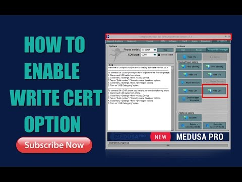 HOW TO ENABLE CERT WRITE OPTION ON OCTOPUS BOX