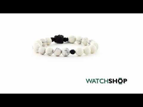 Icon Brand Jewellery Base metal Alternate Ending Bracelet (B594-BR-WHT)